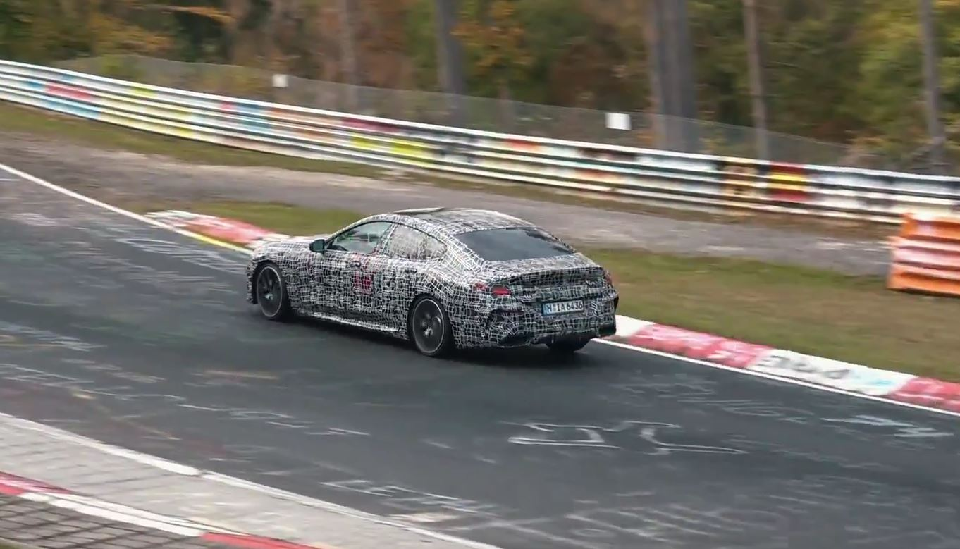 2020 bmw m850i gran coupe spied at the nurburgring looks set for domination autoevolution. Black Bedroom Furniture Sets. Home Design Ideas
