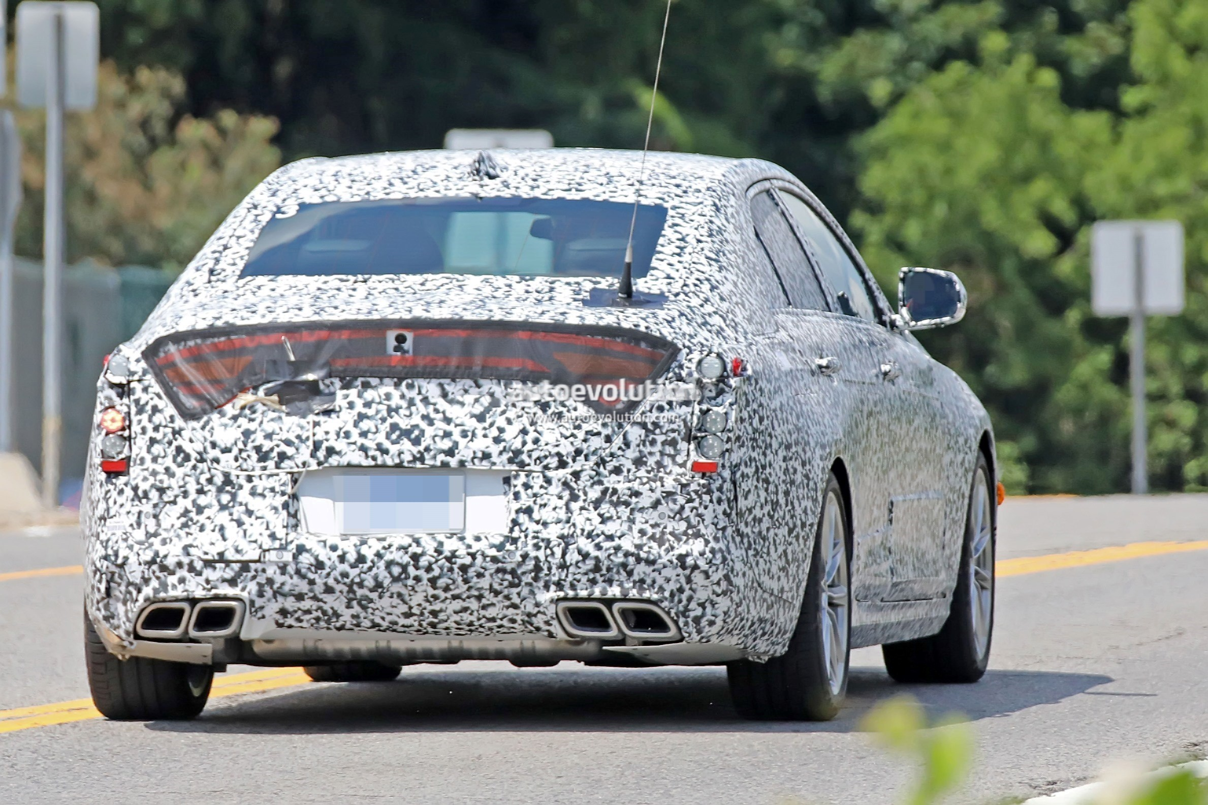 Cadillac Ct Small Rwd Sedan Spied Flaunting Quad Exhaust System