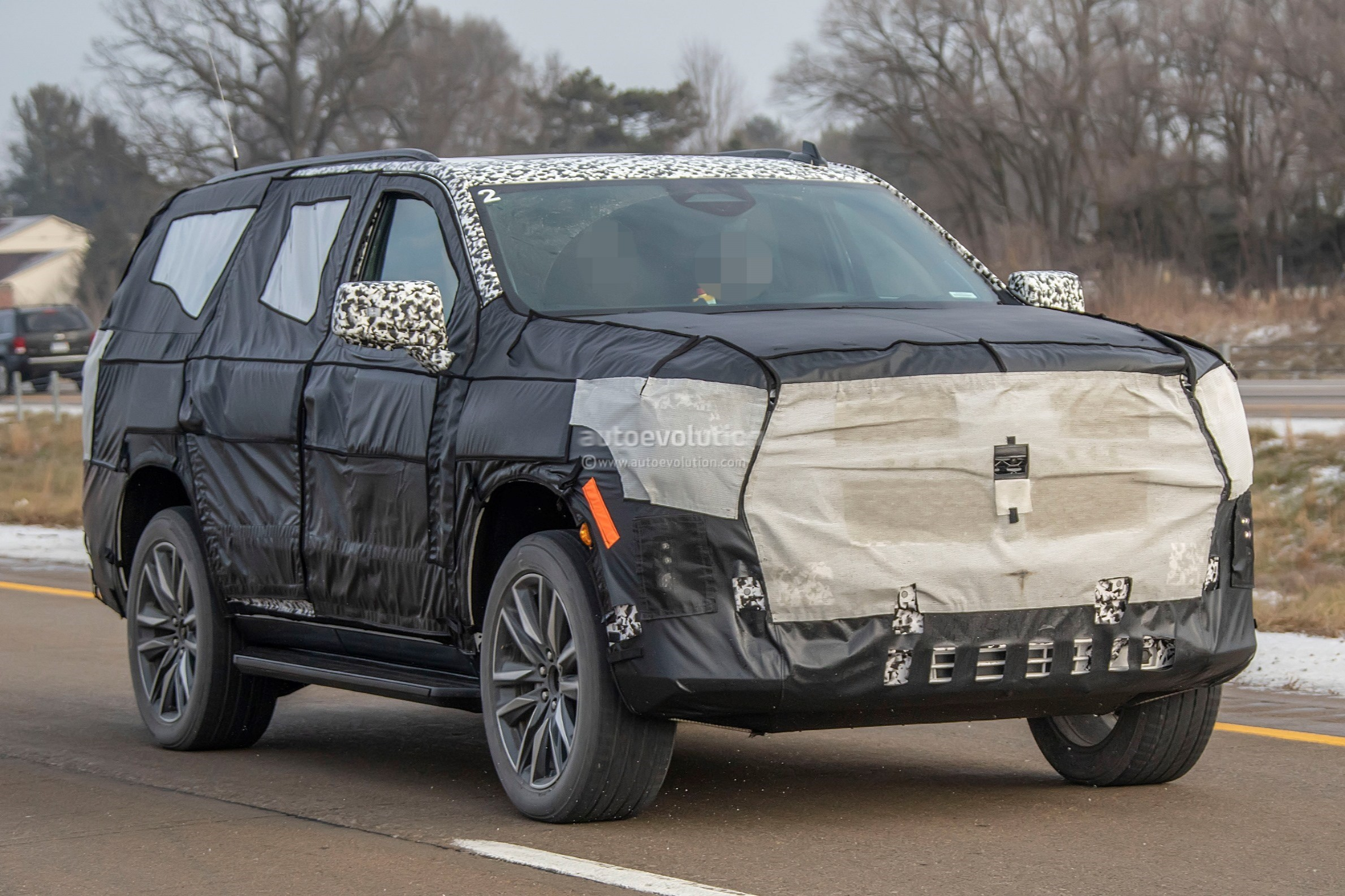 2020 Cadillac Escalade Spied With Makeshift Dodge Ram ...