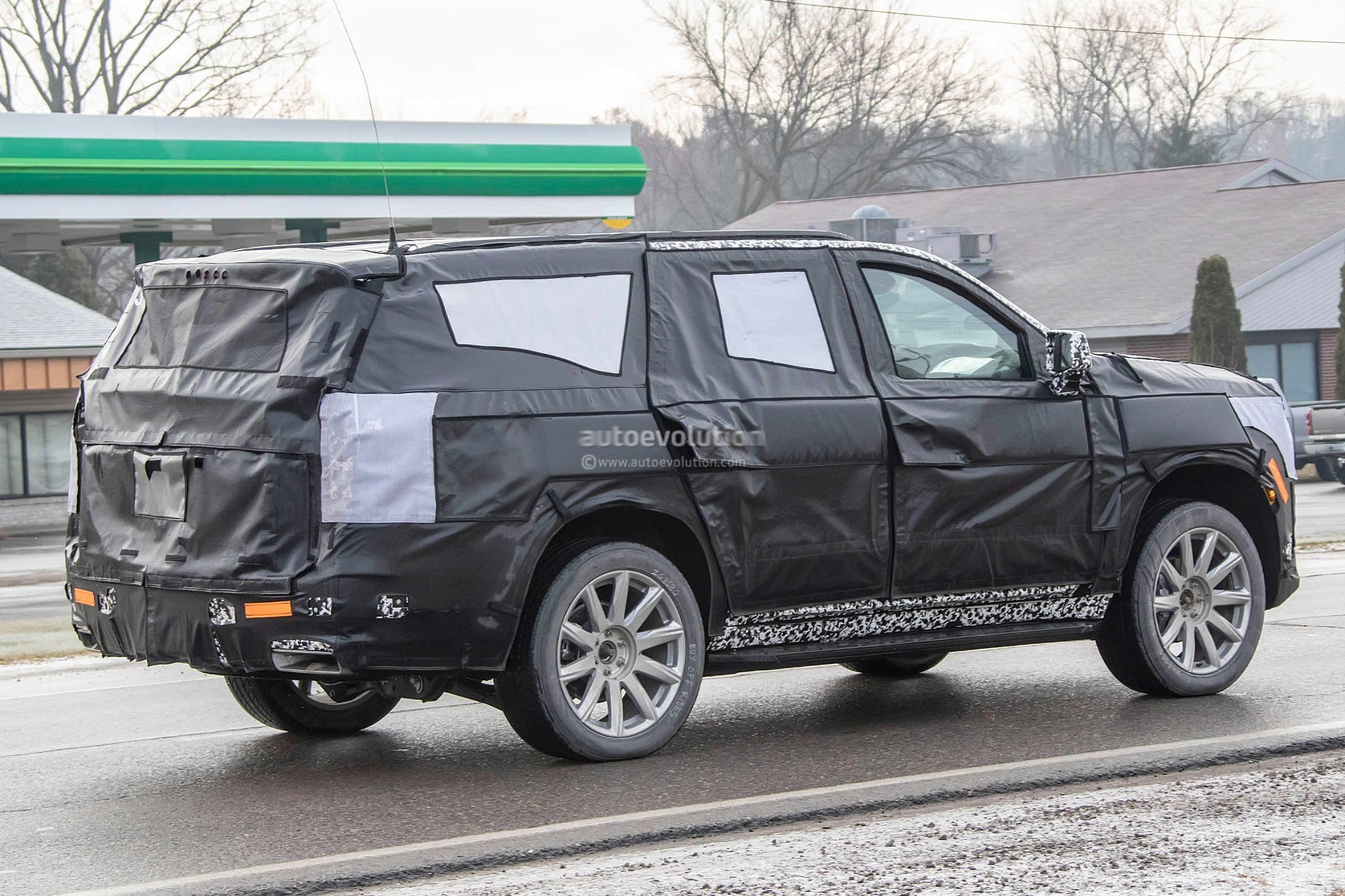 2020 Cadillac Escalade Spied With Makeshift Dodge Ram