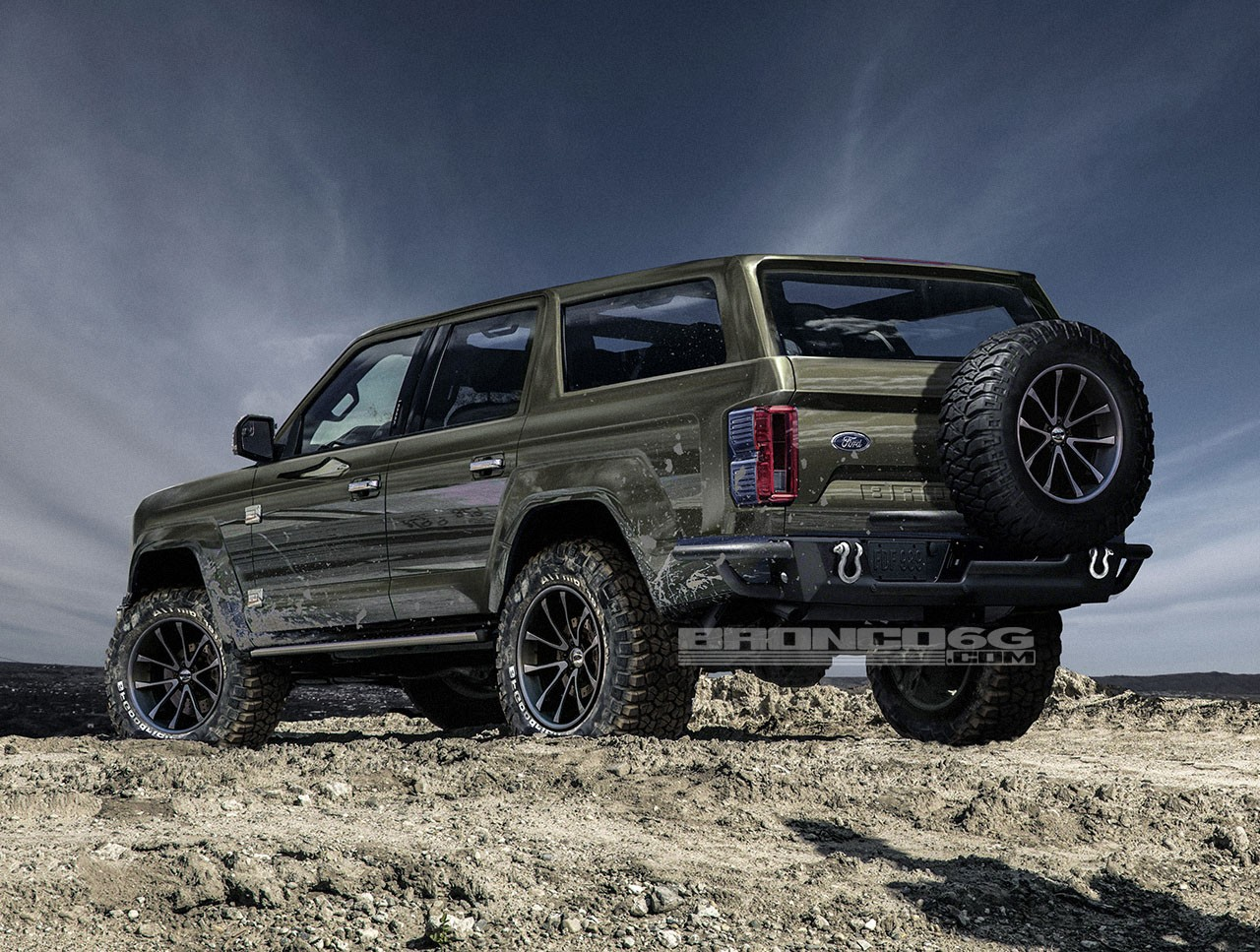Ford Explorer 2017 Sport Price >> Rendering: 2020 Ford Bronco Four-Door SUV Looks Ready to ...
