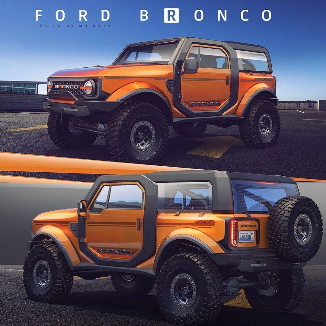 2020 Ford Bronco Rendered Stays True To 1965 Original