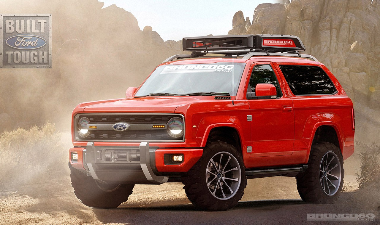 bronco ford come things renderings shape open concept autoevolution release