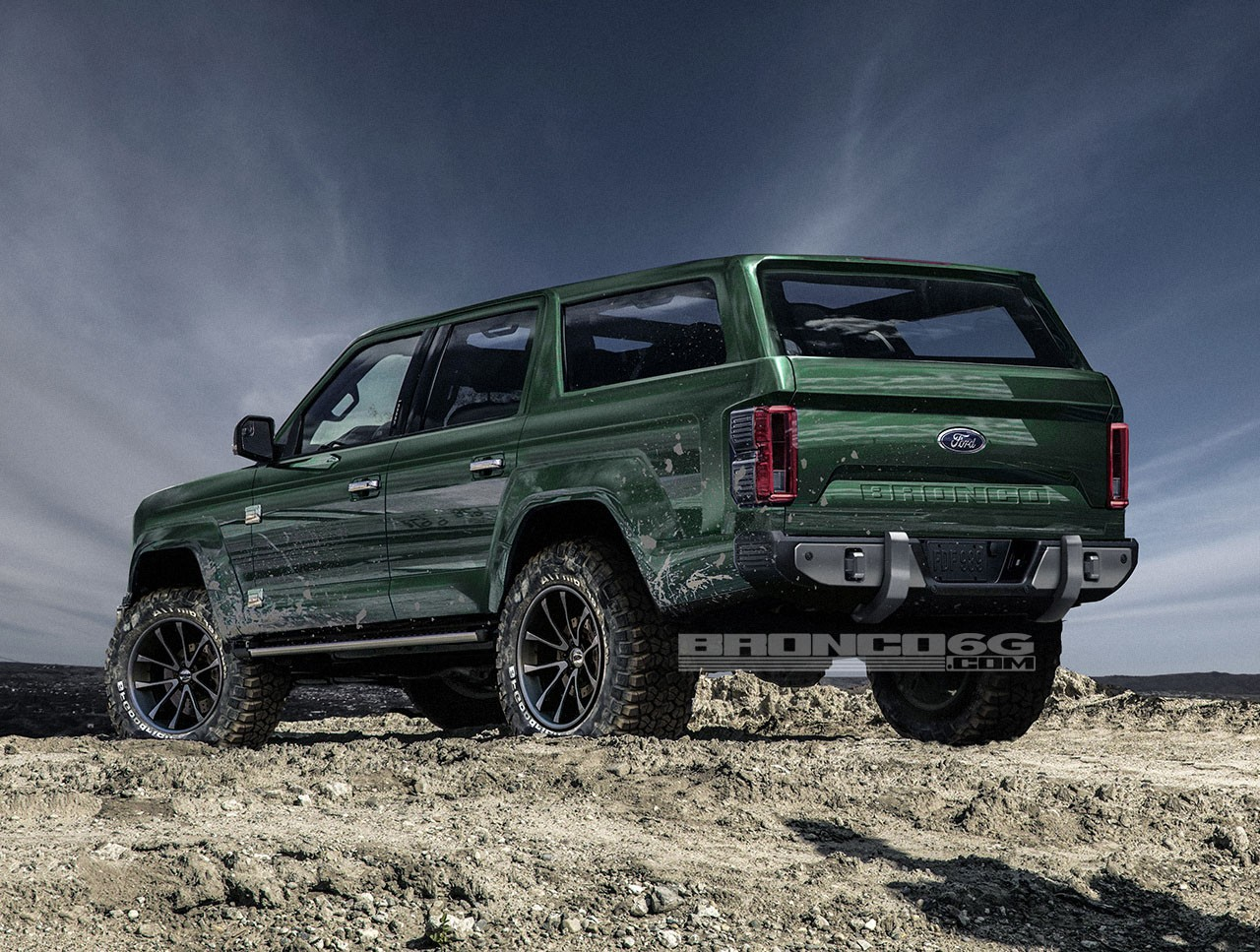 2020 Ford Bronco Shows Jeep Wrangler Proportions Tailgate