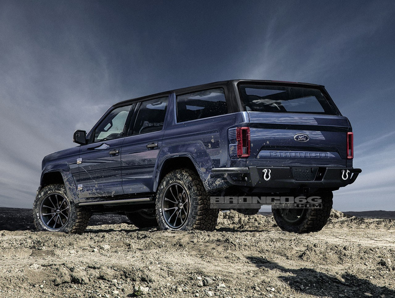 Ford Bronco Raptor >> 2020 Ford Bronco Shows Jeep Wrangler Proportions, Tailgate-Mounted Spare Wheel - autoevolution