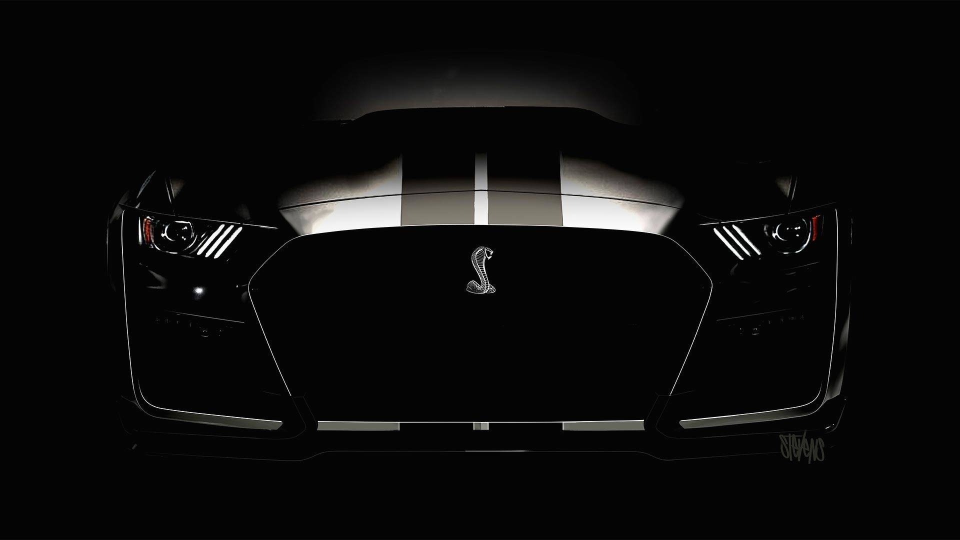 mustang gt500 shelby ford headlights facelift teased again pre hid autoevolution teaser