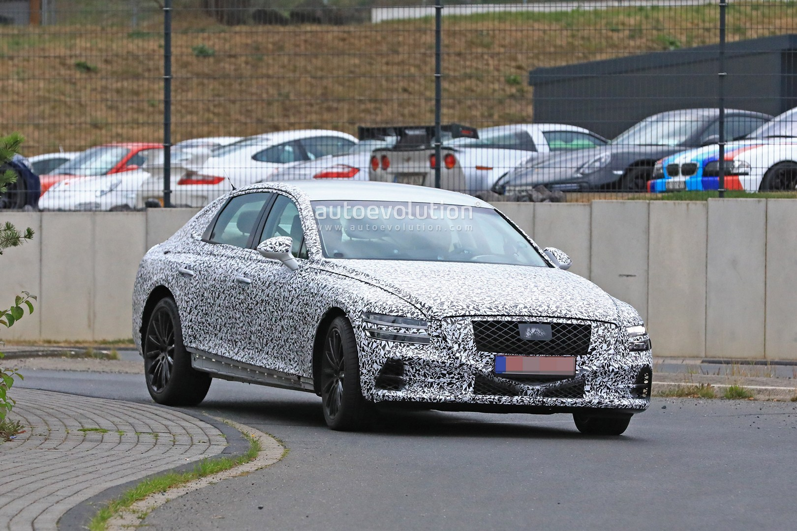 2020 Genesis G80 Drops More Camo at the Ring, Looks Better Than GV80 Concept - autoevolution