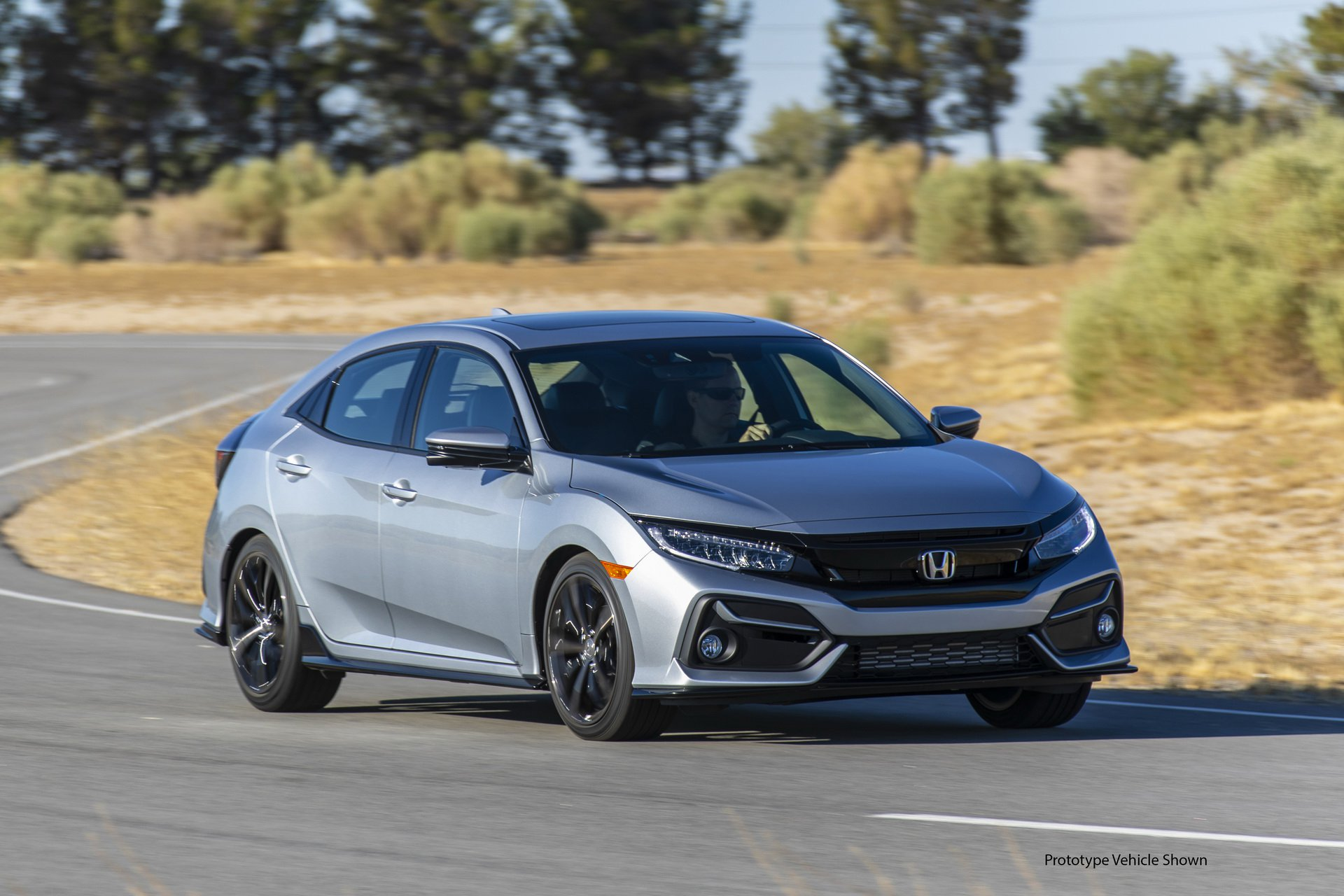 Honda Civic Hatchback facelift debuts in the US