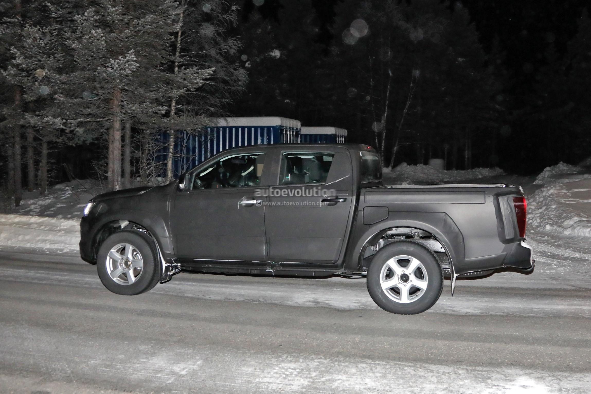 2020 Isuzu D-Max Pickup Truck Spied With Full-LED Headlights
