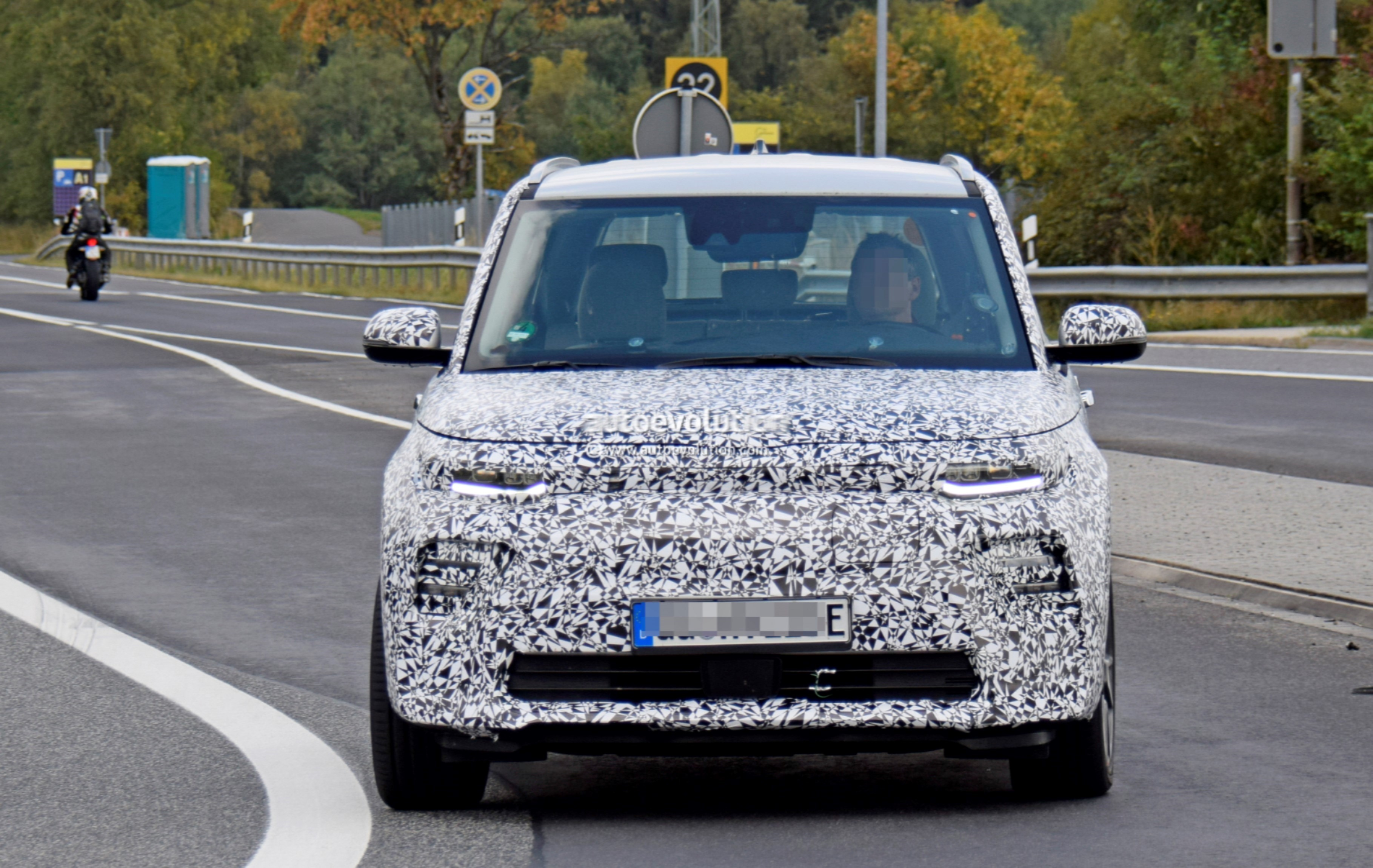 2020 Kia Soul Ev Spied At The Nurburgring With Full Led