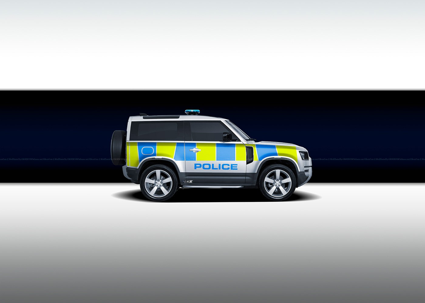 2020 Land Rover Defender Rendered as Various Police Cars ...