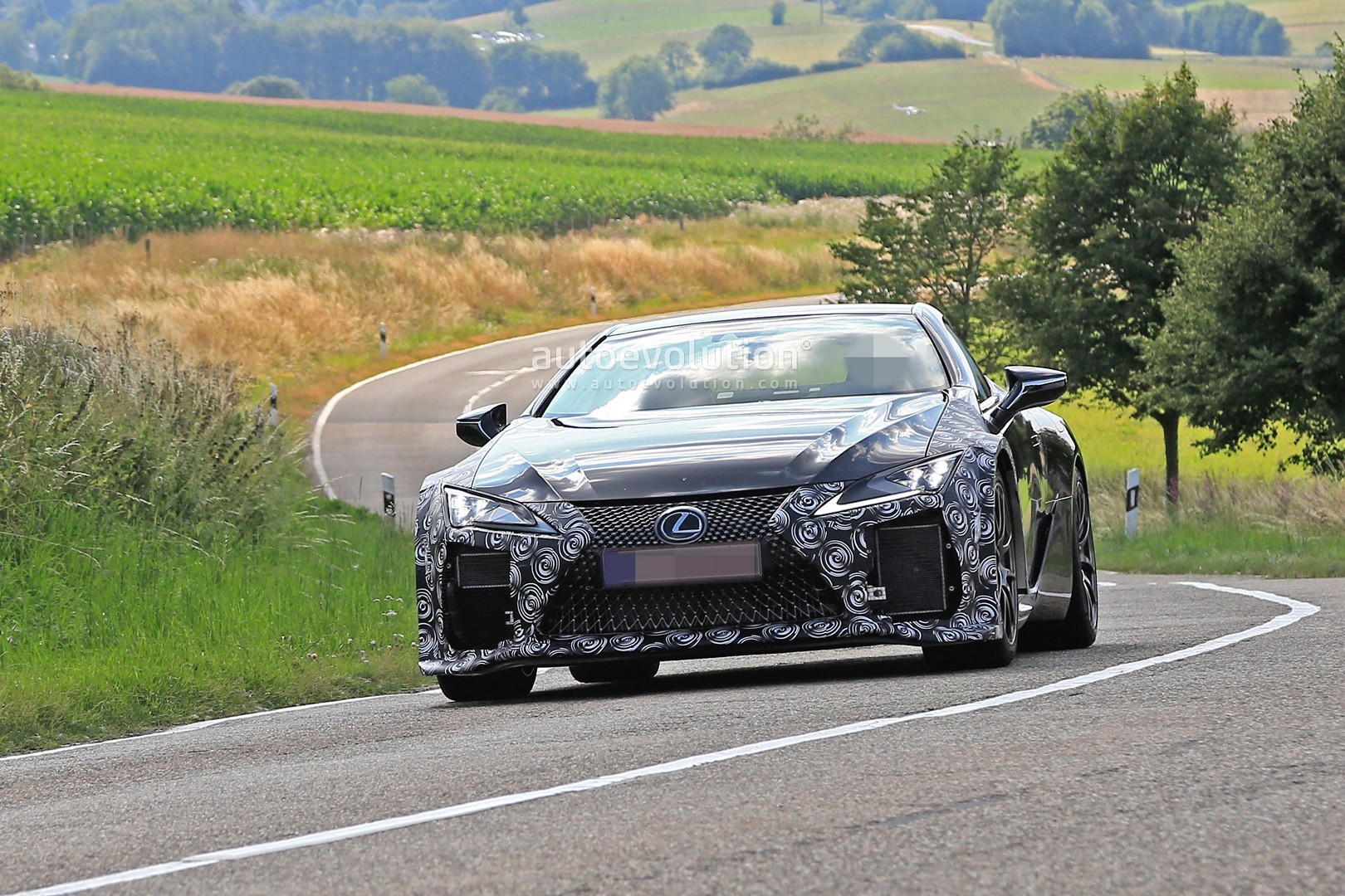 Lexus Lc F Spied For The First Time Looks To Become A Japanese Supercar on Lc Engines