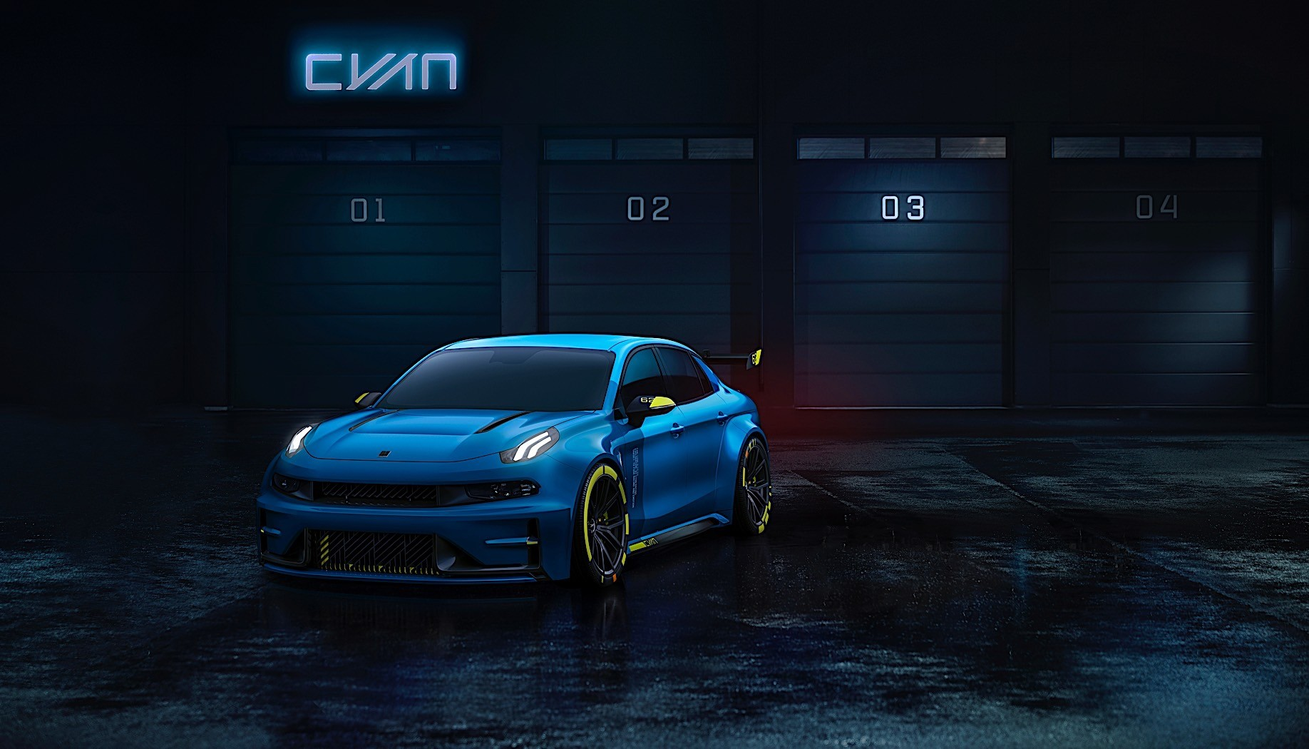 2020 Lynk & Co 03 Cyan is a 500 HP Racing Sedan, More Performance Coming - autoevolution