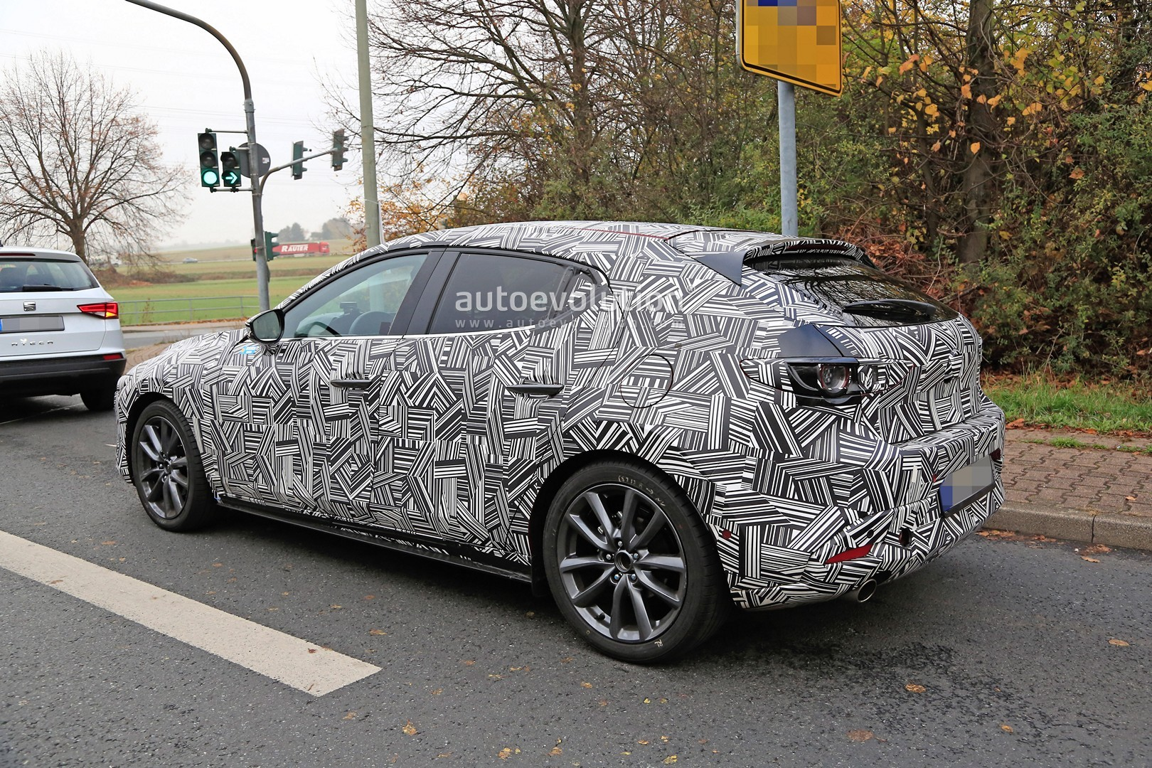 2020 mazda3 hatchback makes spyshot debut ahead of la unveiling