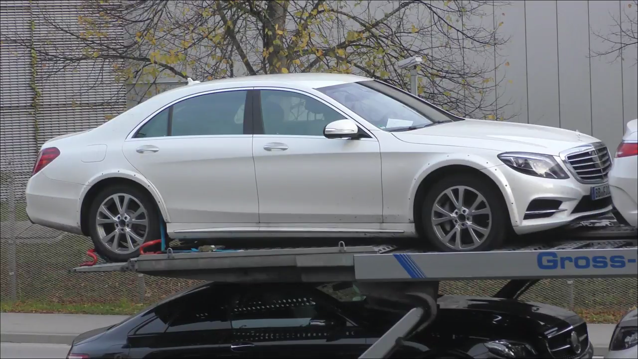 2020 mercedes benz s class w223 mule filmed on car carrier in germany autoevolution. Black Bedroom Furniture Sets. Home Design Ideas