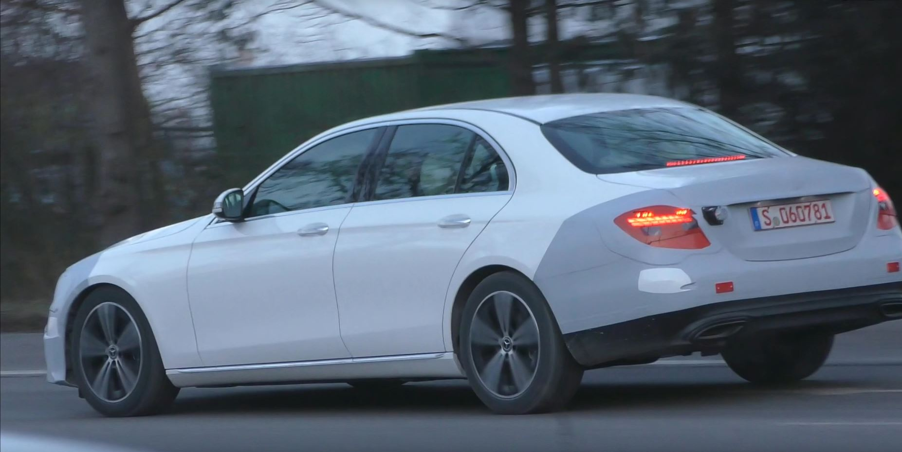 2020 Mercedes E Class Spy Video Confirms Long Taillights For