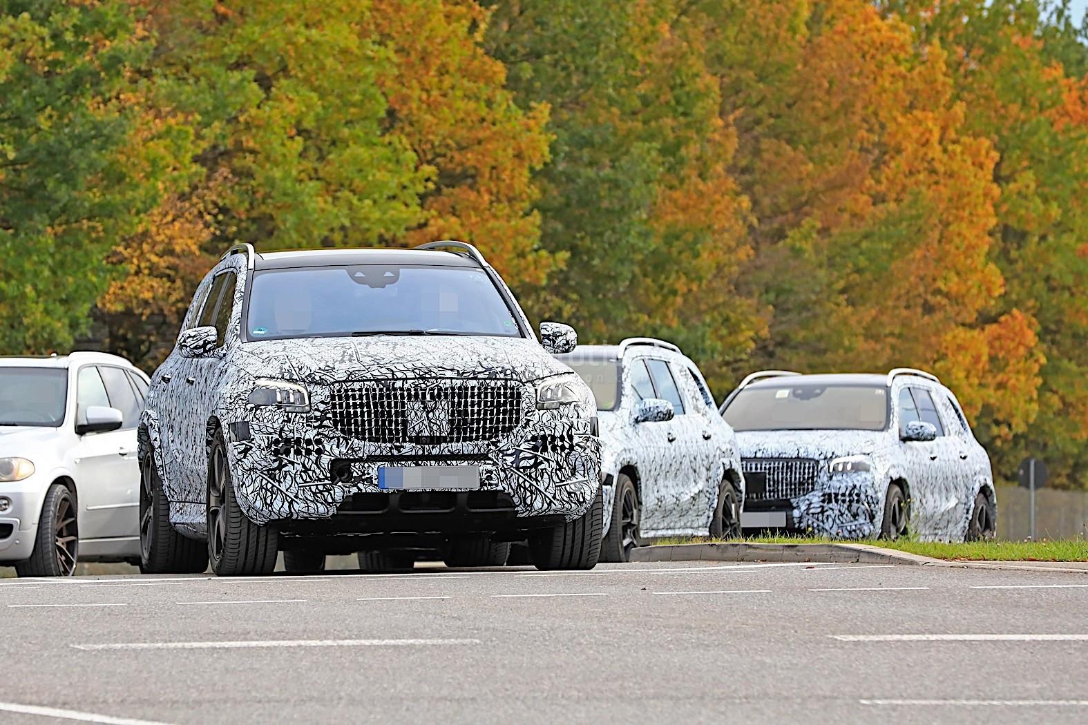 2020 Mercedes Maybach Gls Meets Mercedes Benz Gls In Rare Spyshots