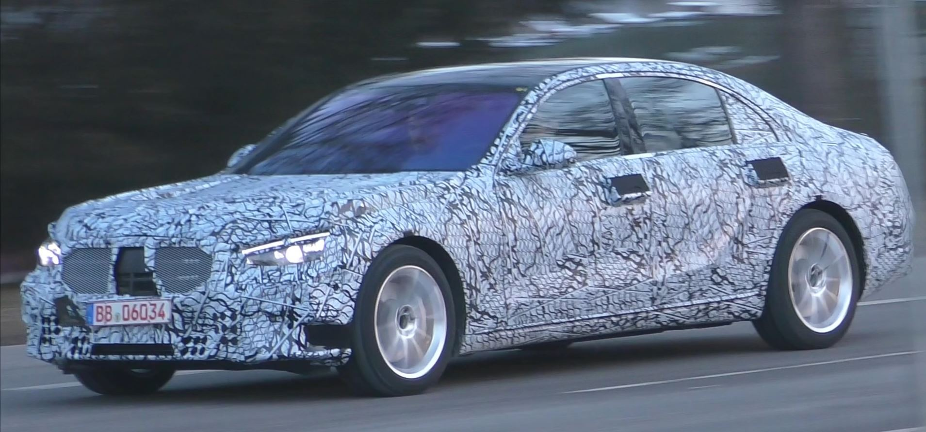 2020 mercedes s-class spied in germany  has smoking problem