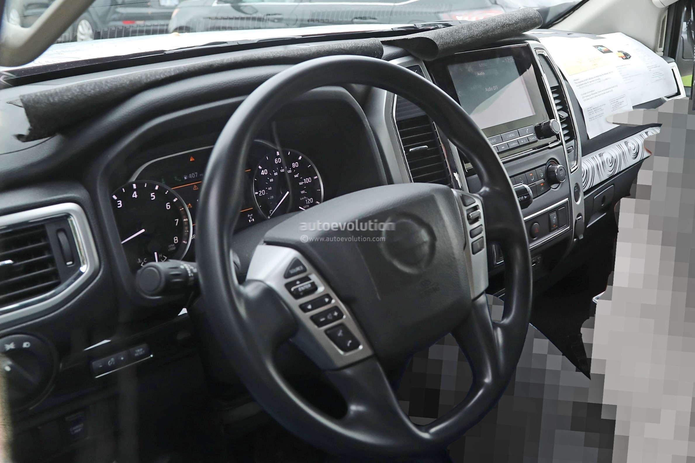 2020 Nissan Titan Spied Inside And Out Autoevolution