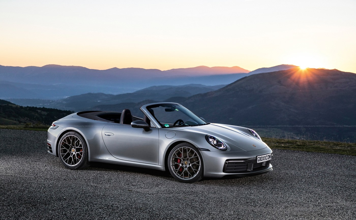 2020 Porsche 911 Meets Original 911 In Glossy Art