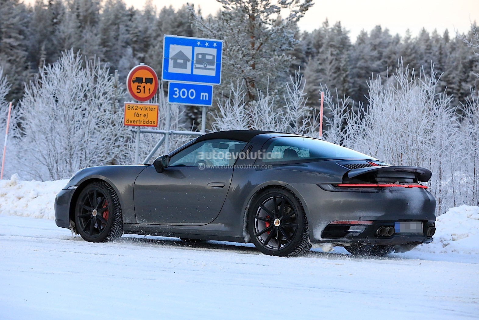 2020 Winter Solstice.2020 Porsche 911 Targa Prototype Sunbathing In Sweden Ahead