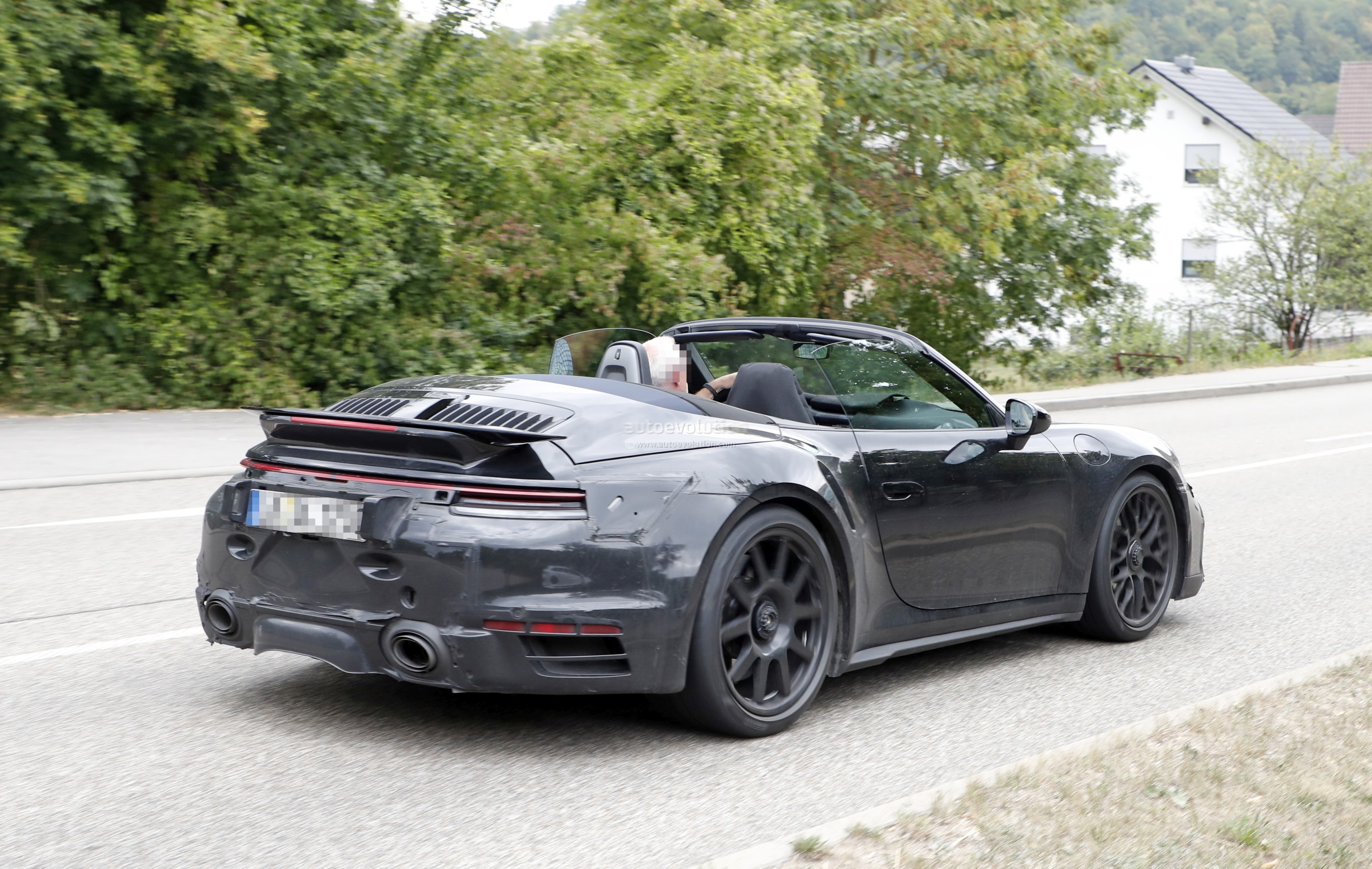 2020 Porsche 911 Turbo Cabriolet Spotted With Top Down