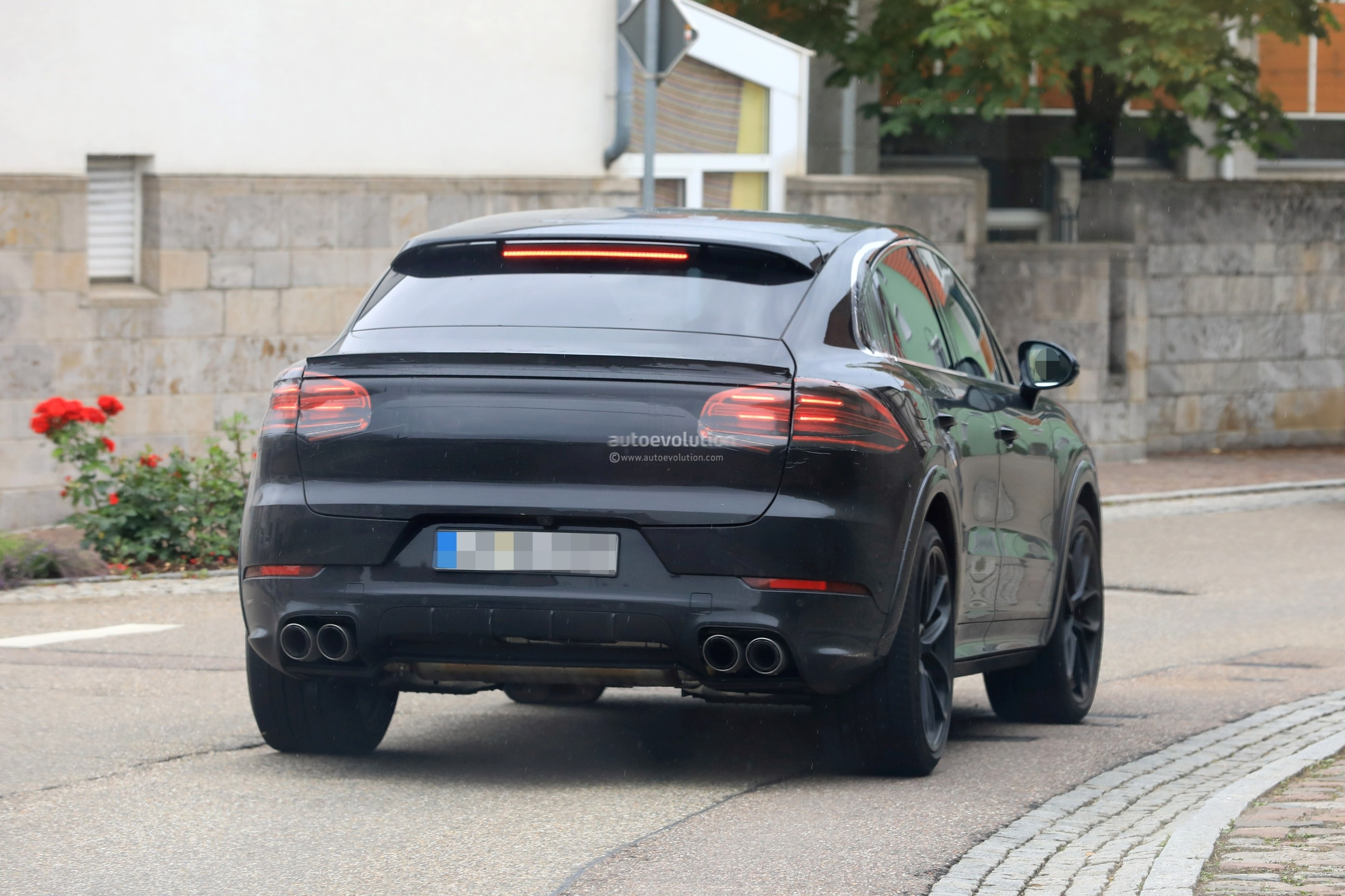 2020 Porsche Cayenne Coupe Turbo Prototype Reveals Svelte