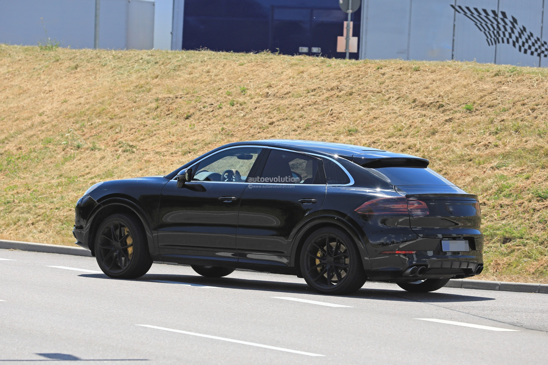 2020 Porsche Cayenne Coupe Turbo Prototype Reveals Svelte