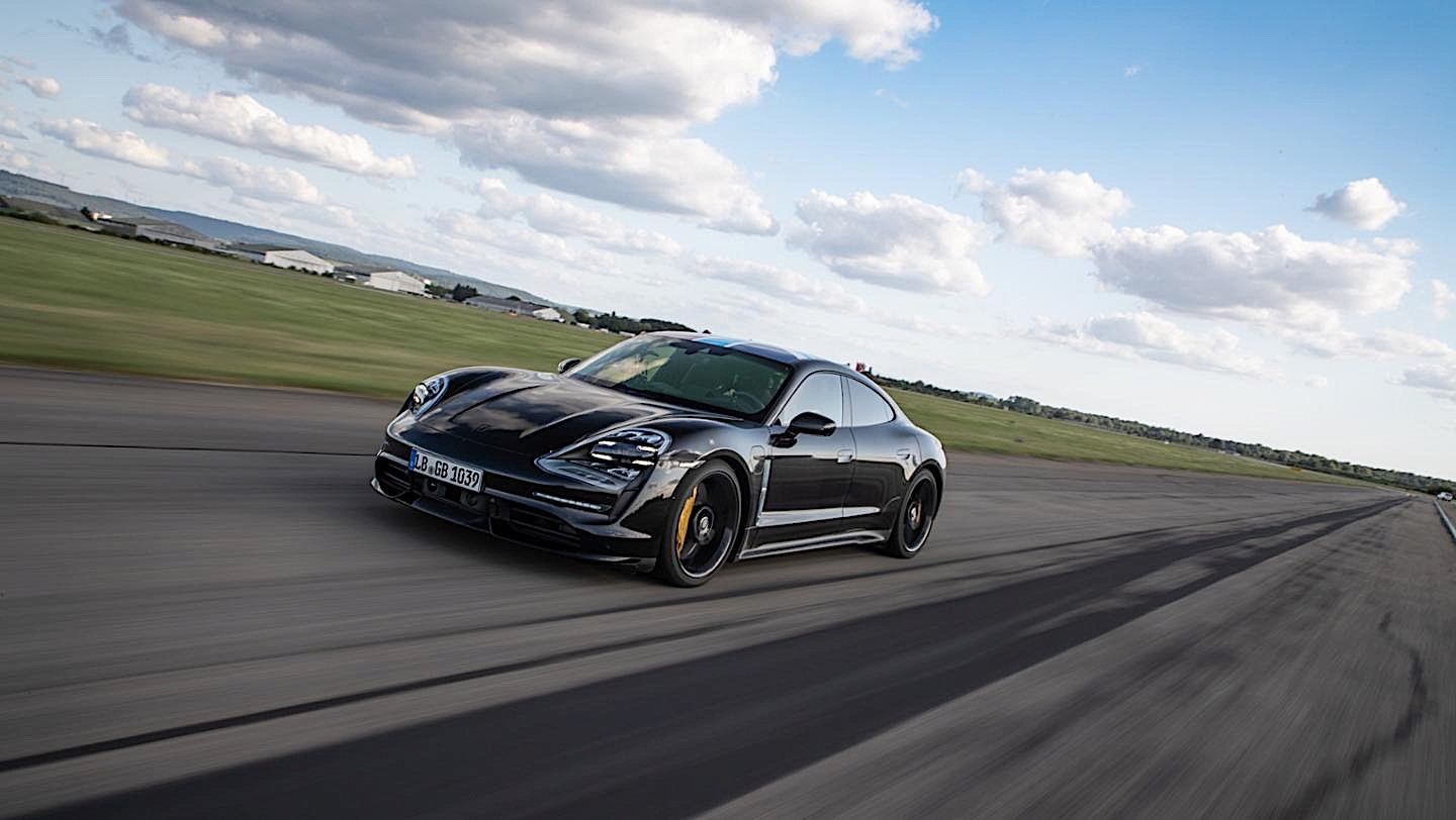 2020 Porsche Taycan Sets Nurburgring Lap Record For Four