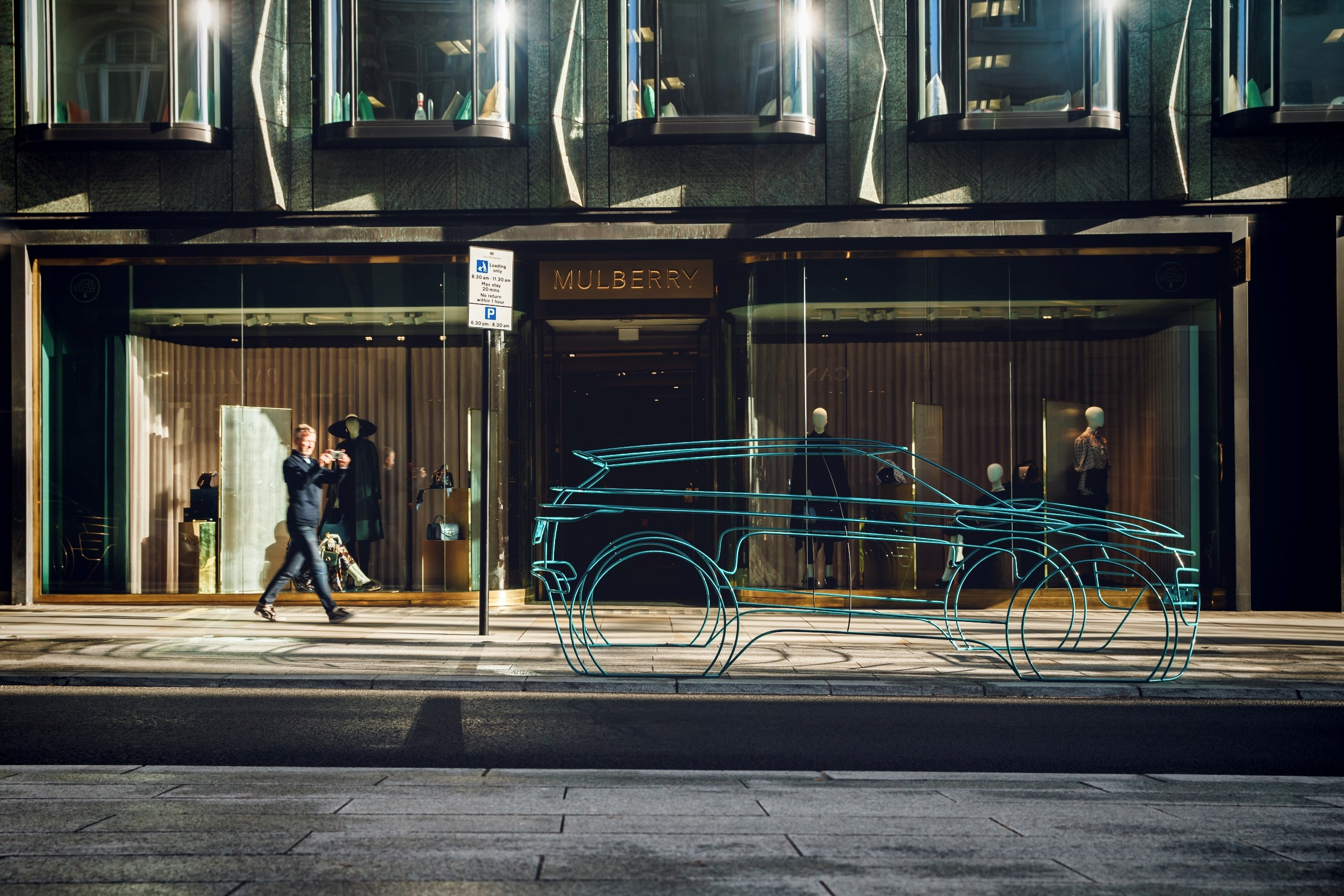 Land Rover teases new Evoque with full-scale wireframe sculptures