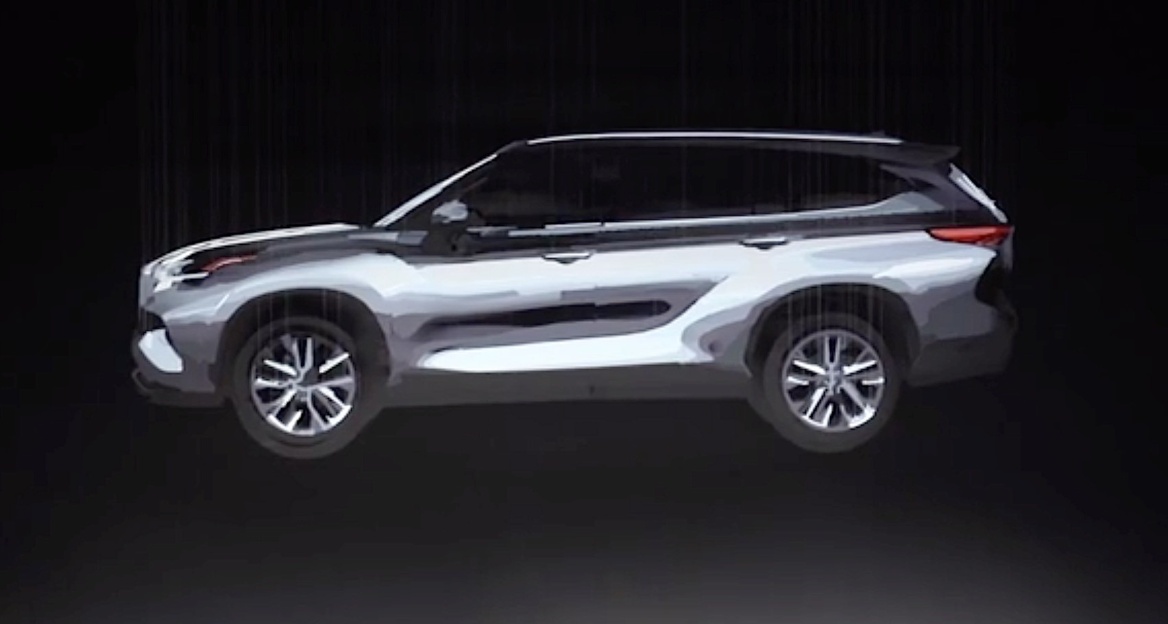 2020 Toyota Highlander Teased in Augmented Reality Before