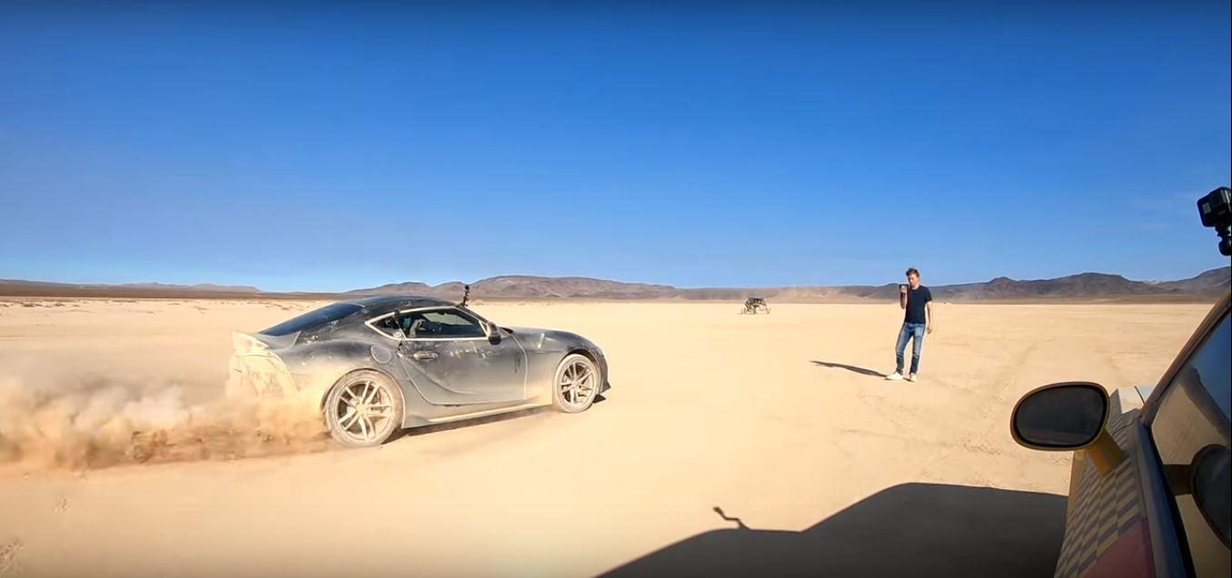 2020 Toyota Supra Drag Races Dodge Demon In The Desert Feels Like Mad Max Autoevolution