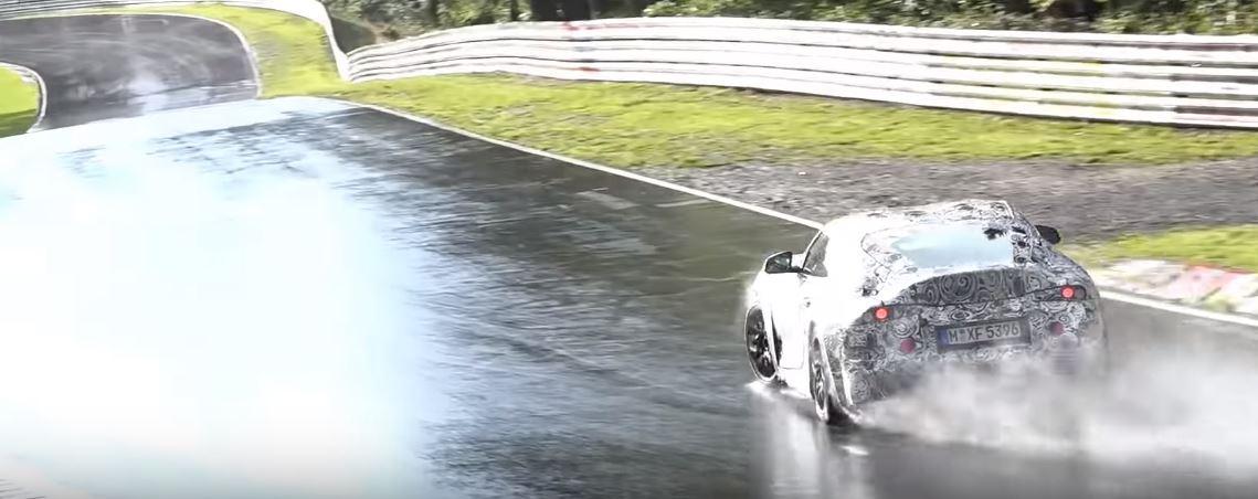 Junk Cars Detroit >> 2020 Toyota Supra Drifting on Wet Nurburgring Looks Like a Missile - autoevolution