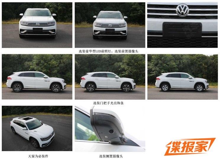2020 Volkswagen Atlas Cross Sport Spied Uncamouflaged In China - autoevolution