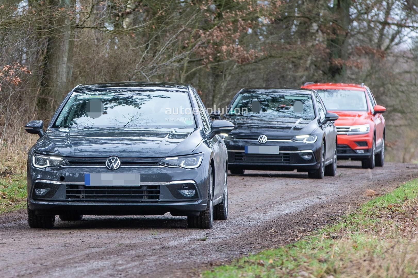 2020 Volkswagen Golf 8 Spied Virtually Undisguised
