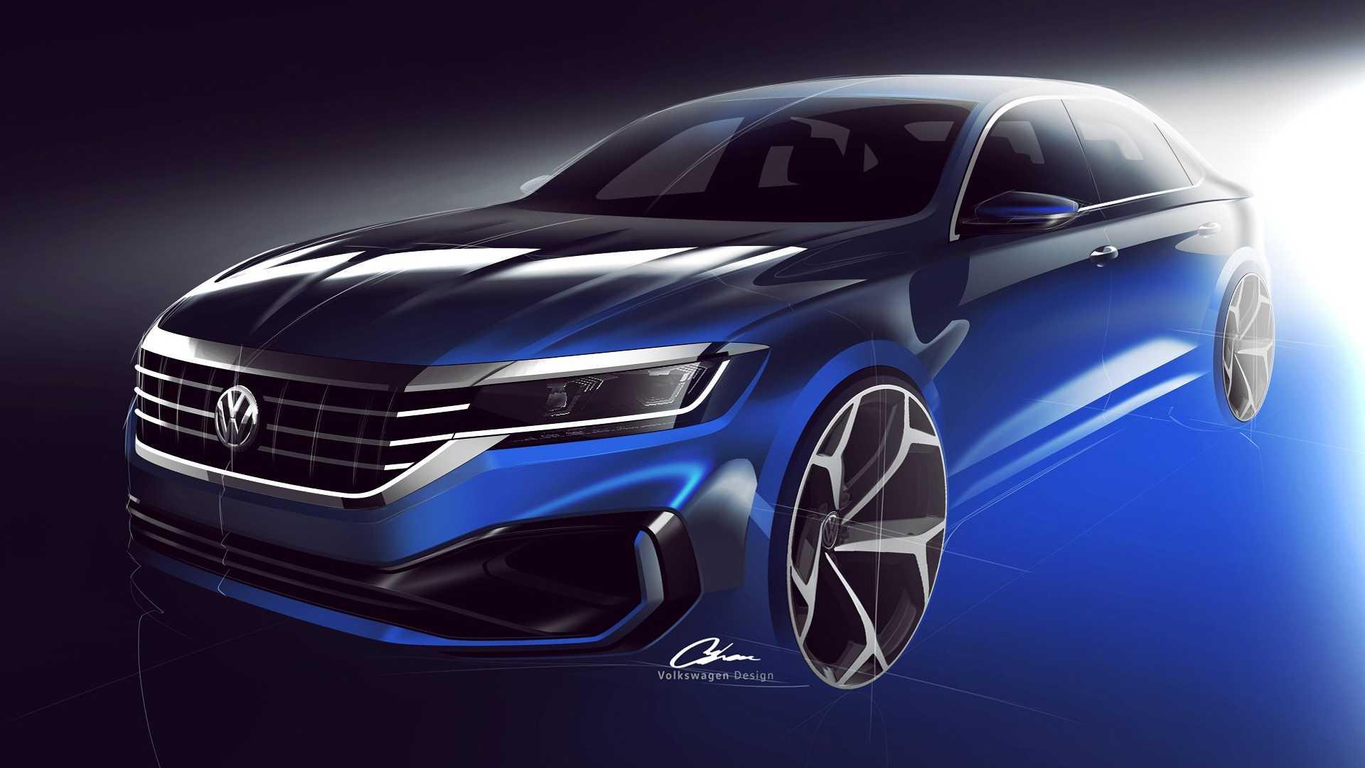 2020 Volkswagen Passat For U.S. Market Teased, Doesn't Look Promising - autoevolution