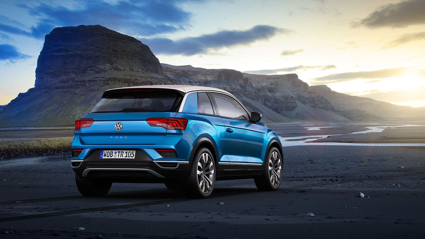 volkswagen t roc takes on seat arona and citroen c3 aircross autoevolution. Black Bedroom Furniture Sets. Home Design Ideas
