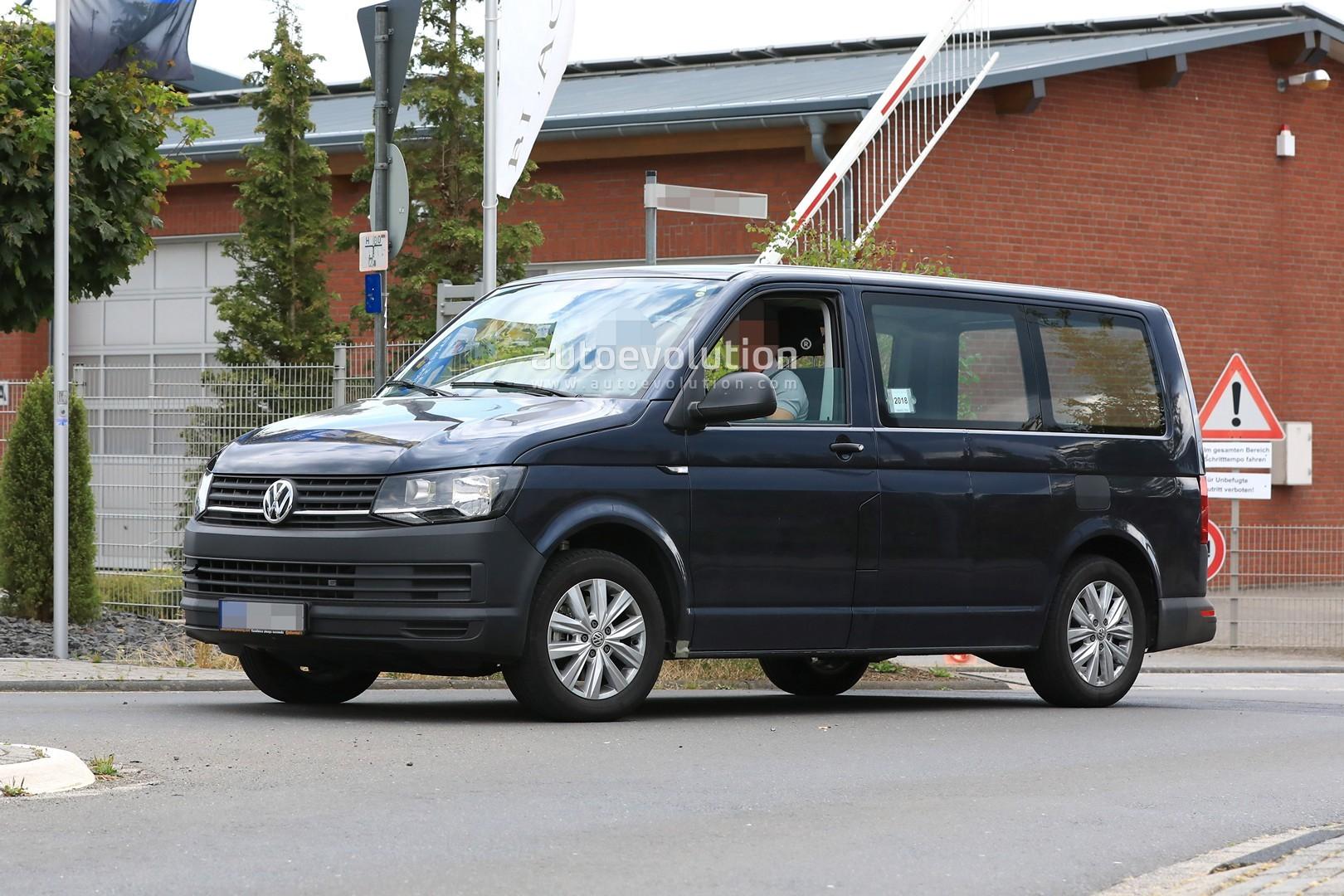 Spyshots: 2020 Volkswagen T7 Mule Might Be a Plug-in Hybrid - autoevolution