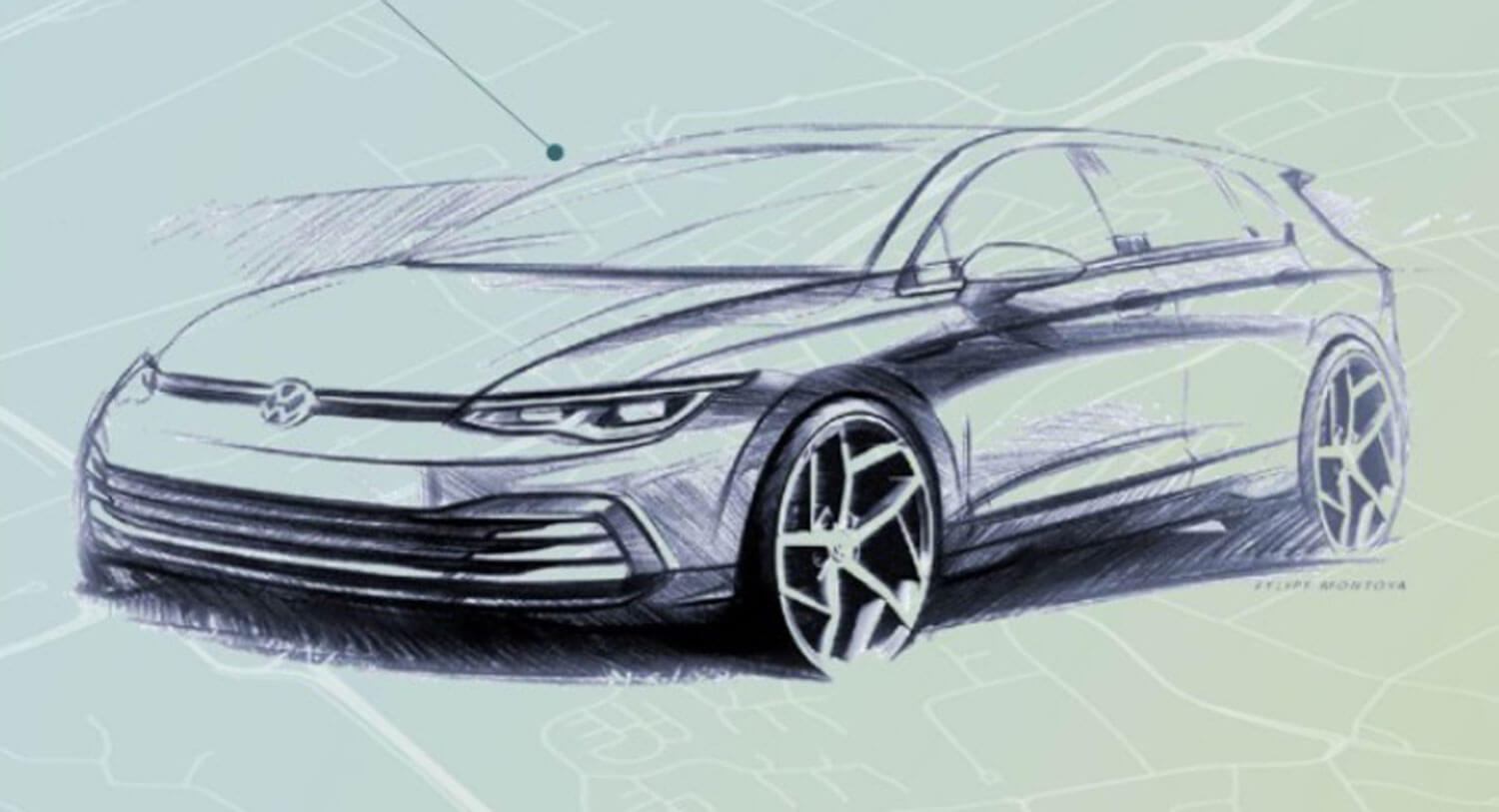 2020 Vw Golf 8 Interior And Exterior Sketches Are Very