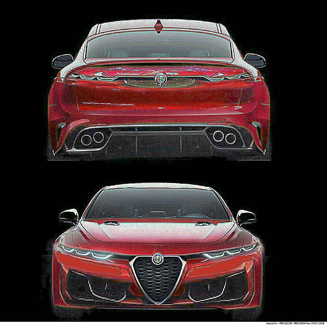 2021 Alfa Romeo Giulia Quadrifoglio Rendered With Tonale