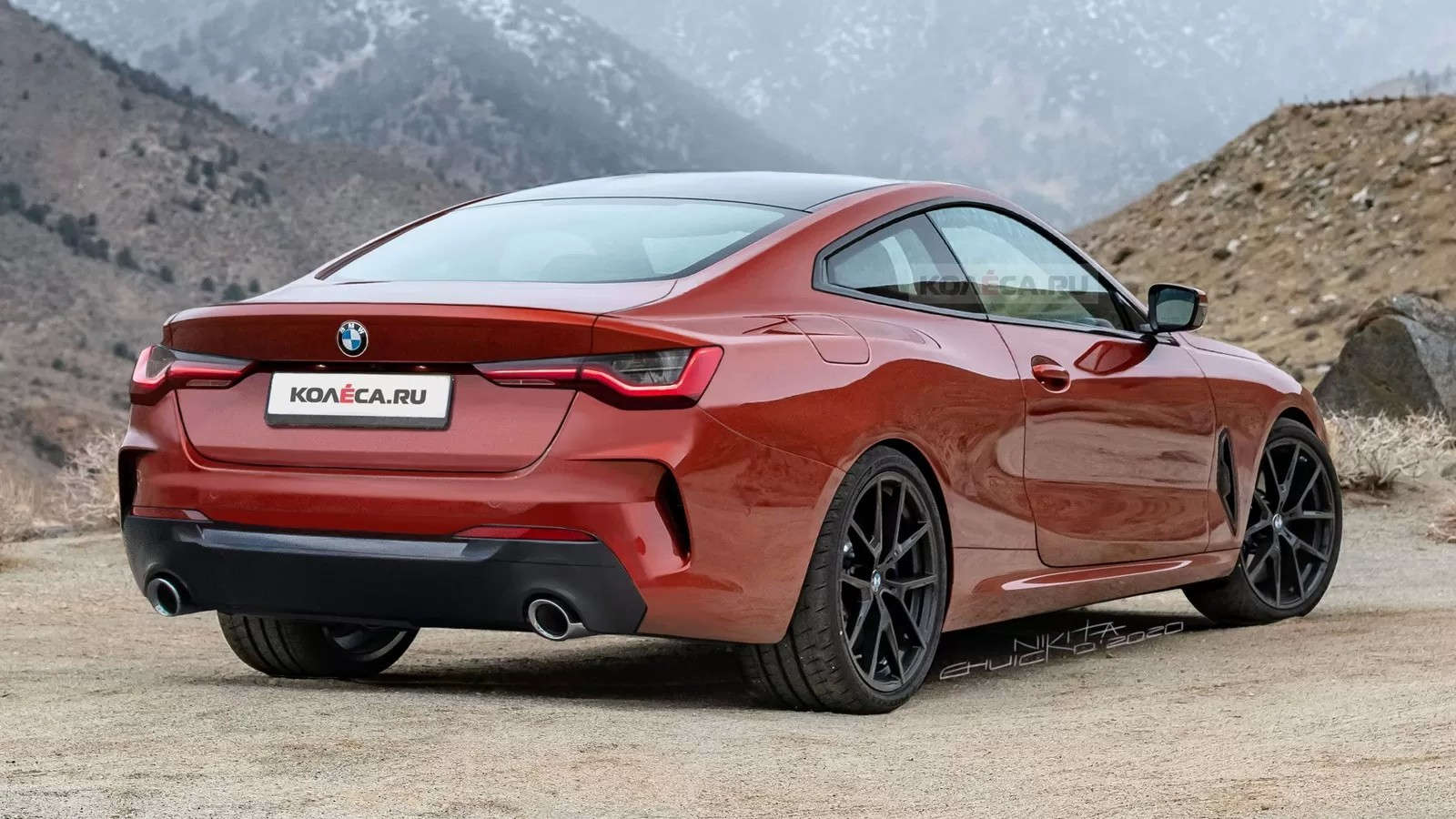 2021 bmw 4 series coupe accurately rendered  actually looks good
