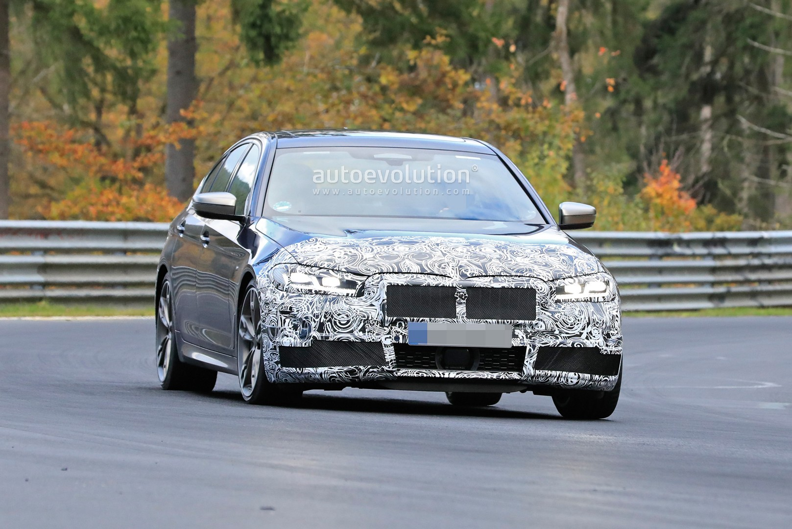 2021 Bmw 5 Series Spied At The Nurburgring With Giant Grilles New