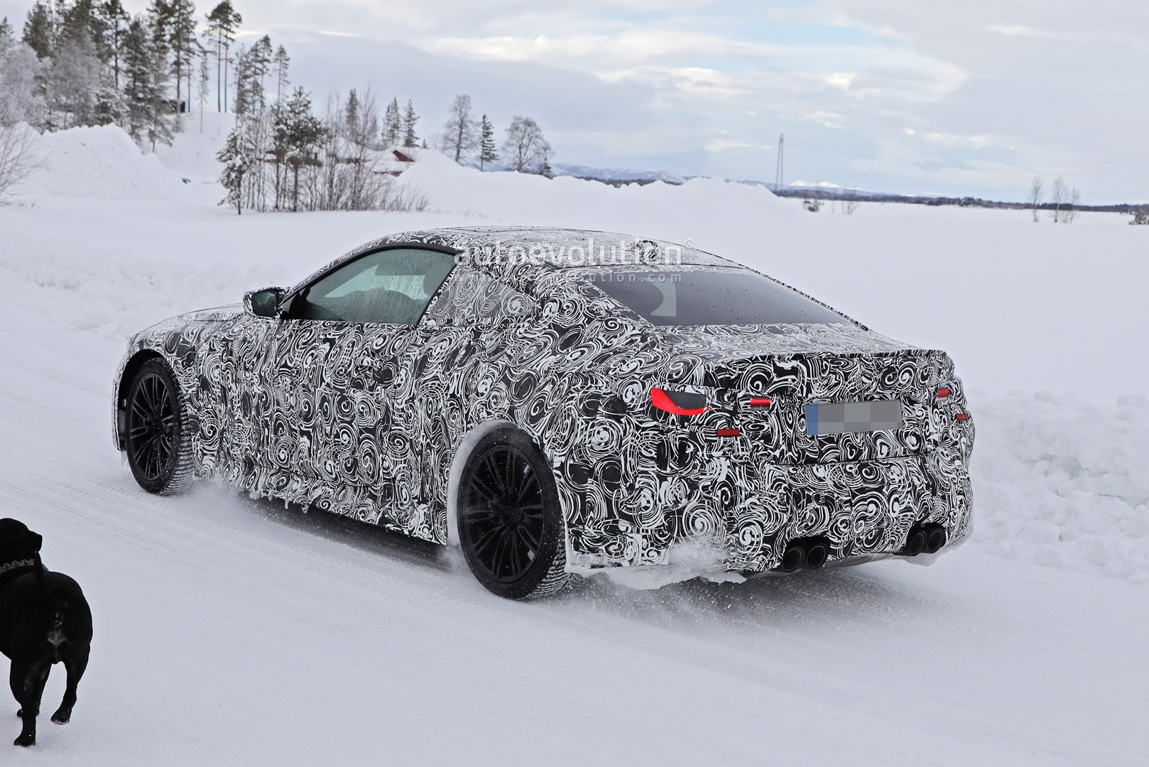 2021 bmw m4 coupe spied winter testing  looks ready to take on c 63 and rs5