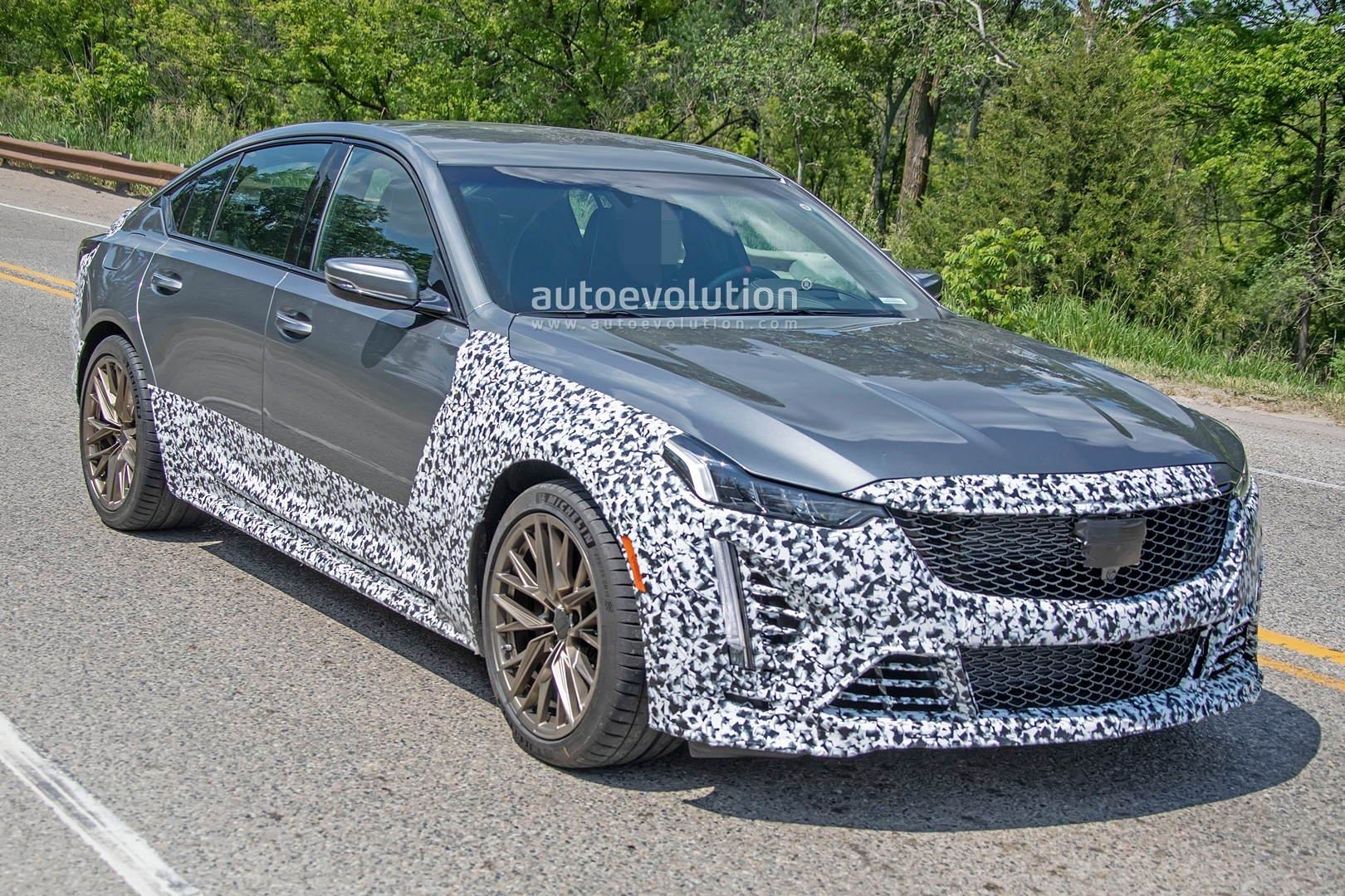 2021 Cadillac CT5-V Blackwing Spotted With Bronze Wheel ...