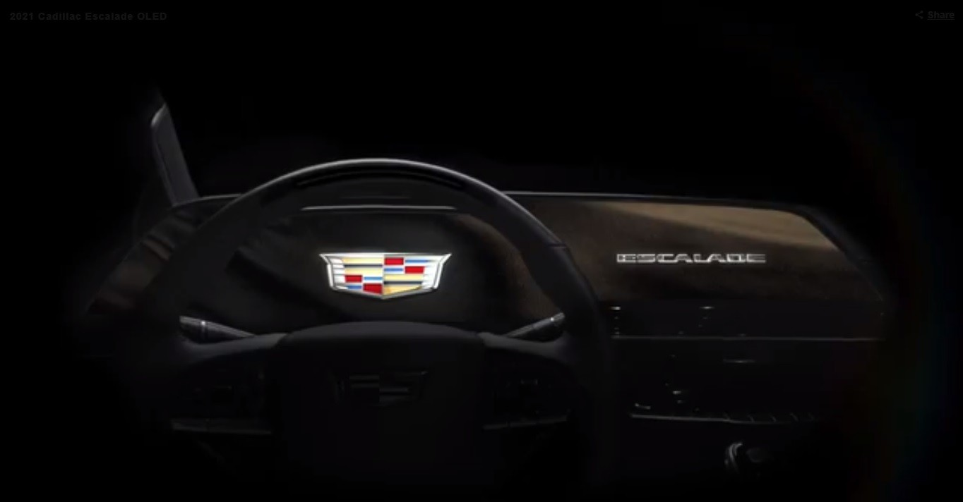 Cadillac's 2021 Escalade will boast a 38-inch curved OLED screen
