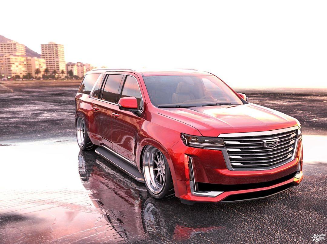 """2021 Cadillac Escalade """"Wide Boy"""" Rides All So Low ..."""