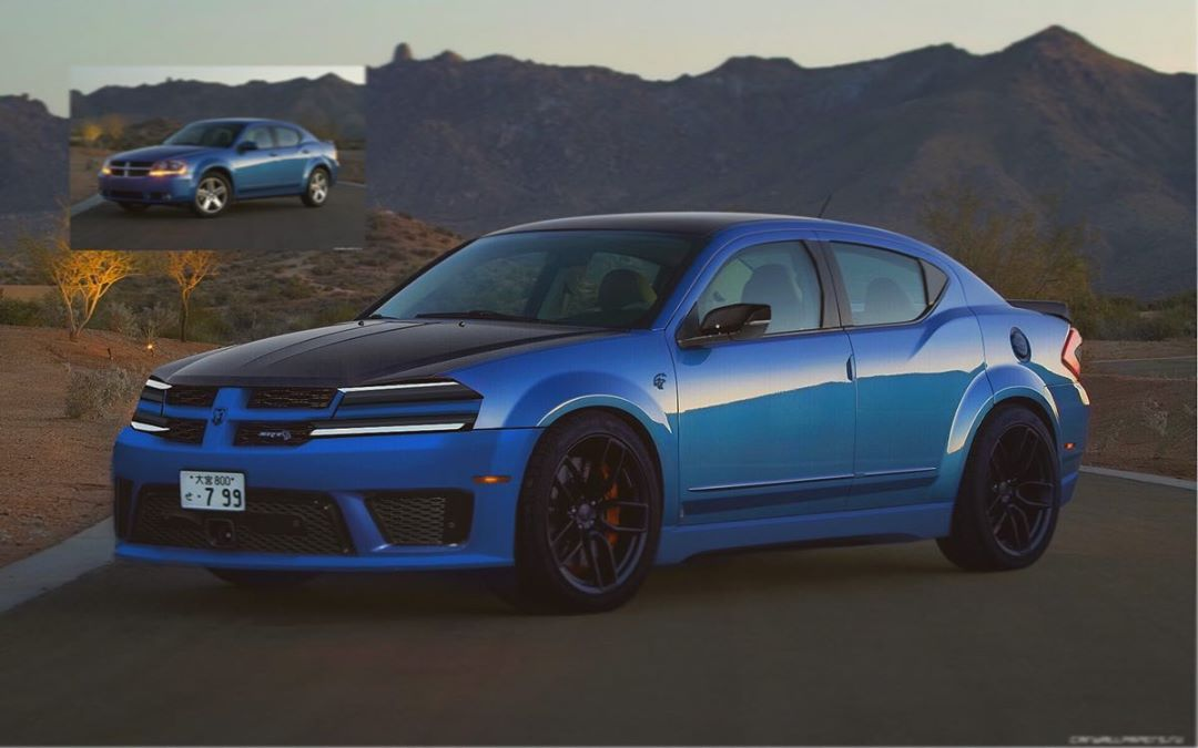 2021 Dodge Avenger Hellcat Rendered As Mid Size Muscle Car Autoevolution