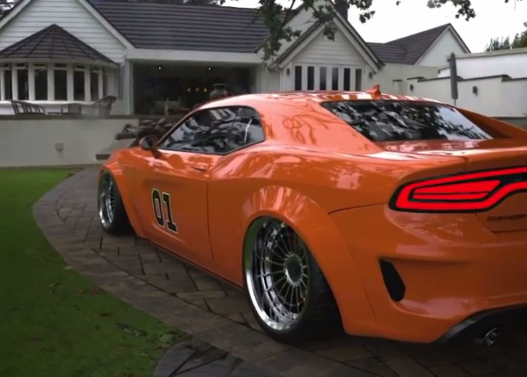 """2021 Dodge Charger Coupe """"General Lee"""" Looks Like a Confusing Abomination -  autoevolution"""