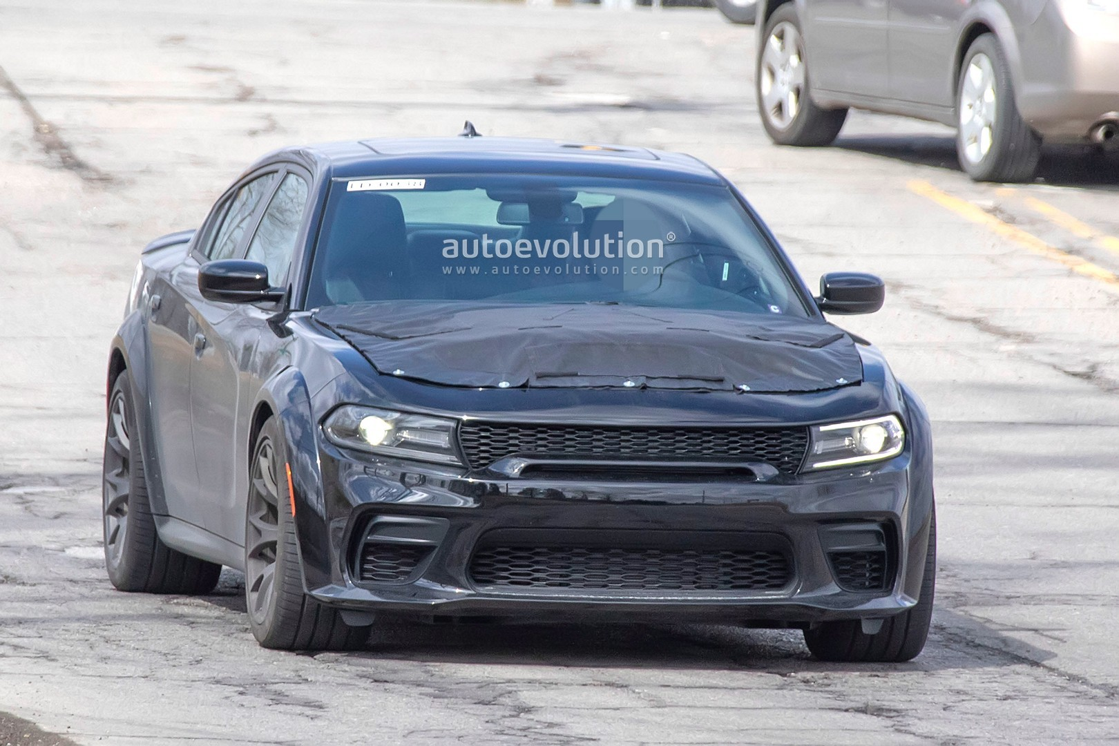 2021 dodge charger hellcat redeye widebody spied  is totally awesome