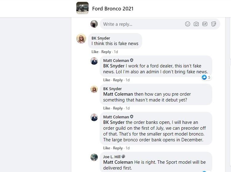 2021 Ford Bronco Order Books Open in December, Deliveries ...
